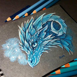 Ice dragon by AlviaAlcedo