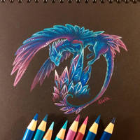 Cave dragon by AlviaAlcedo