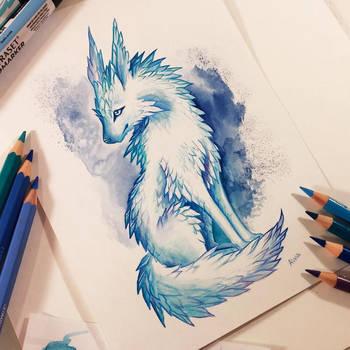 Crystal fox by AlviaAlcedo