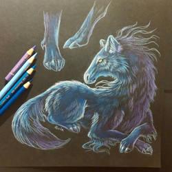 Wolf horse by AlviaAlcedo