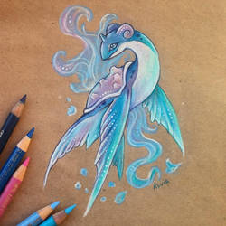 Flying Lapras by AlviaAlcedo