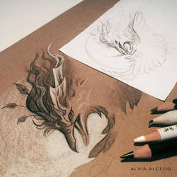 Shadow Phoenix WIP by AlviaAlcedo