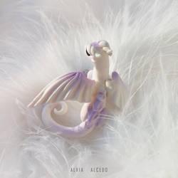 White amethyst dragon by AlviaAlcedo
