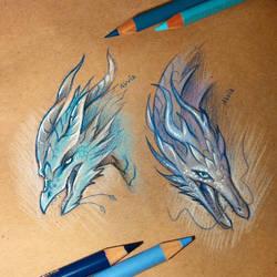 Water dragons by AlviaAlcedo