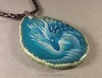 Ice dragon pendant by AlviaAlcedo