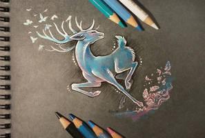 Spring deer by AlviaAlcedo
