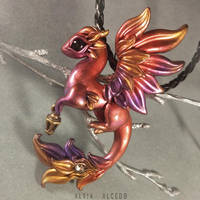 Flame sunset dragon by AlviaAlcedo