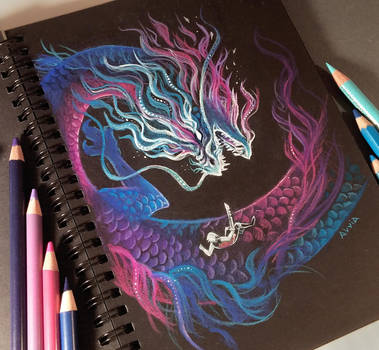 Dragon Raising It's Head by AlviaAlcedo