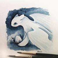 Light Fury mother by AlviaAlcedo
