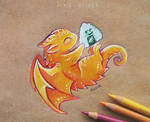 Onigiri dragon by AlviaAlcedo