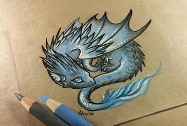 Little dark dragon by AlviaAlcedo