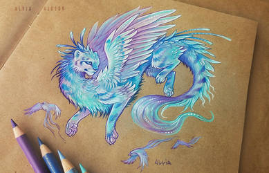 Dragon cat by AlviaAlcedo