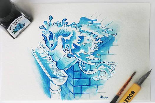Rain dragon by AlviaAlcedo