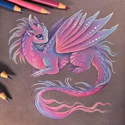 Fairy baby dragon by AlviaAlcedo