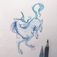 Winter unicorn by AlviaAlcedo