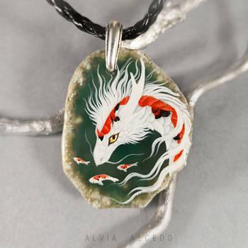 Three colored Koi dragon by AlviaAlcedo