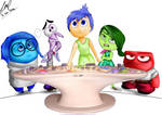 Inside Out Characters (Lineart + Color) by jezreelian10