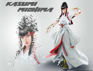 Kasumi Michima - Tekken7 Low Poly Splatter Artwork by jezreelian10