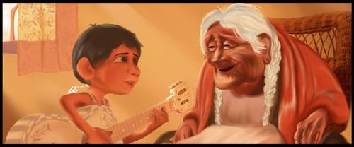 (Digital Painting) A Scene from the movie Coco by jezreelian10