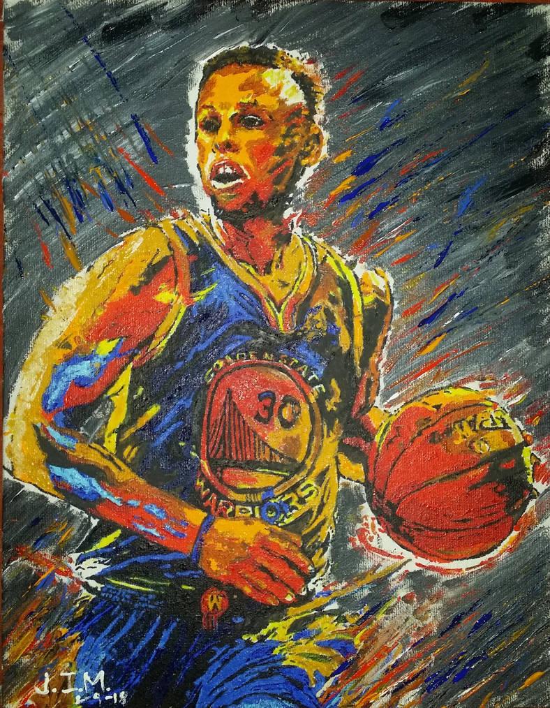 Steph Curry Acrylic Paint by jezreelian10