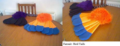 Fursuit Bird Tails by pharaohyamifan