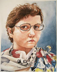 Watercolor Self Portrait by Mysticalpchan