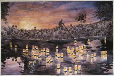 Watercolor Como Zoo J. Lantern Lighting Festival by Mysticalpchan