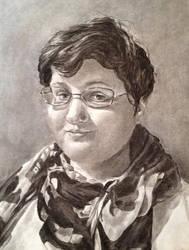 Self Portrait Drawing by Mysticalpchan