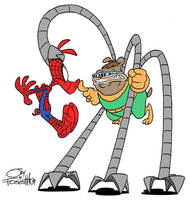 Spider-Ham VD Doctor Octopooch by JayFosgitt
