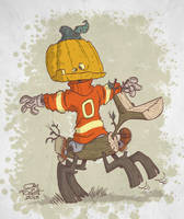 JACK PUMPKINHEAD AND SAWHORSE by JayFosgitt