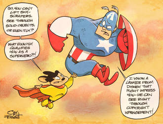 Captain America and Mighty Mouse by JayFosgitt