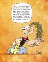 Popeye builds up his strenf by JayFosgitt