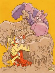 CAPTAIN CARROT AND PIG IRON VS MUDD by JayFosgitt