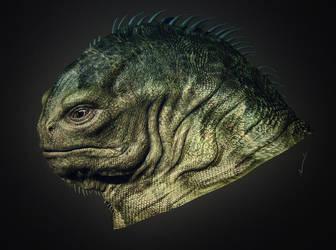 Alien 32 head texture by perana