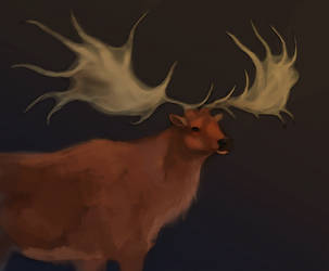Deercember #3 | Irish Elk by wispwolf