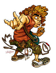 Curly the Rocker - Colored by ginoroberto