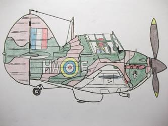 'Chibi' Hawker Hurricane Mk1 by MJBTB-3