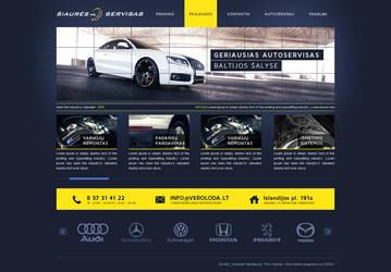 Auto services design by Dgrafika