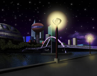 Stoneford (Night) by Sol-Tamida