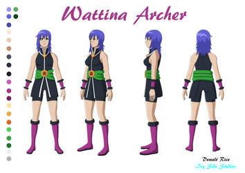 Wattina Archer Reference Sheet (Crow Barr) by Sol-Tamida