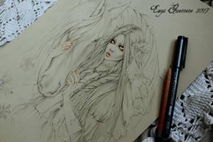 Snow Princess Sketch Wip by EnysGuerrero