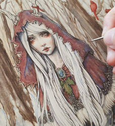 Once Upon a Time in Yule Coloring Process by EnysGuerrero