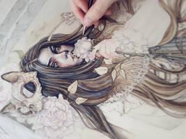 Requiem Coloring Process by EnysGuerrero