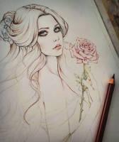 Belle Sketch by EnysGuerrero