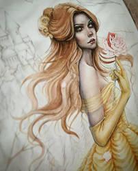 Princess Belle Coloring Process by EnysGuerrero