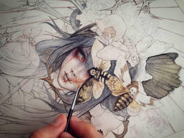 Izanami Goddess WIP 1 by EnysGuerrero
