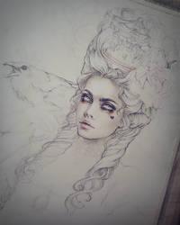 Rococo Dream Sketch by EnysGuerrero