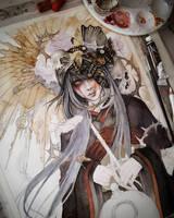 Izanami Goddess WIP 2 by EnysGuerrero