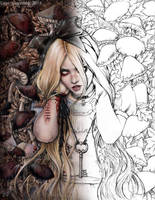 Not Your Alice Colouring Page by EnysGuerrero