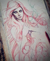 Princess Ariel Sketch by EnysGuerrero